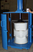 photo of industrial drum crusher